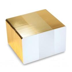 Tarjetas con borde dorado