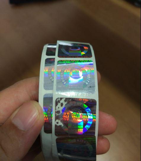 Pegatinas holográficas de seguridad