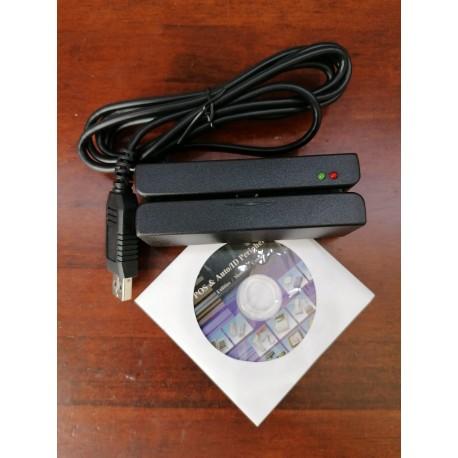 Lector de tarjetas de banda magnética USB
